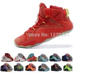 Factory Direct Sale 2015 Hot LEBRONESS 12 XI MVP Men's Basketball Shoes Lebronliss 11 Brand Sports Sneakers US7-13 Free Shipping