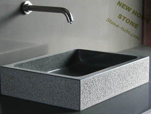 Online kopen wholesale granite countertop vanity sink uit china granite countertop vanity sink - Wastafel rechthoekig badkamer ...