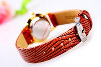 Fashion Casual Luxury Women Wristwatches Genuine Brown Leather Wristband Women Dress Watch,Top Brand Luxury Quartz Watch