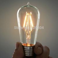 2015 1pcs E27 4W 6W 8W Bombillas AC110-220V COB LED Bulb Edison Christmas Lights Home Lighting Ultra Bright LED Filament Bulbs