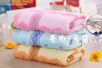 pure cotton facecloth Promotion face towel 34*74cm 100g soft Water absorption facetowel 3pcs/lot