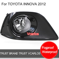 Free Gifts + Free Shipping Fog Lamp for TOYOTA INNOVA 2012~ Clear Lens + Wiring Kit