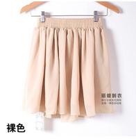 European and American 2015 women high waist double spring and summer chiffon pleated short skirt tutu skirts DQ139
