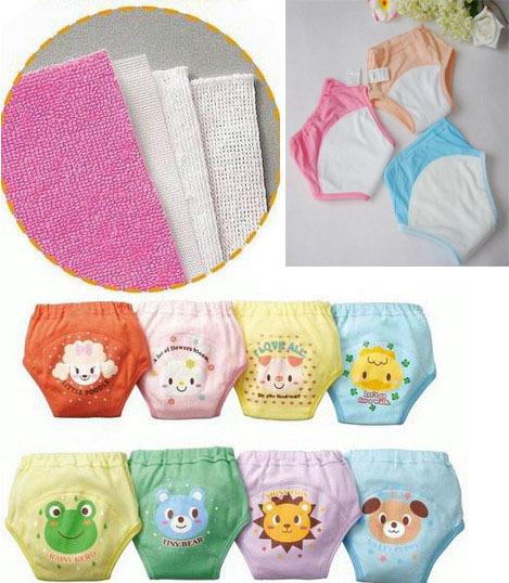 2pcs/lot Four layers baby training pants toddler underwear cotton diapers kids panties free shipping(China (Mainland))