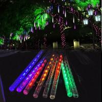 20cm Meteor Shower Rain Tubes LED Light For Christmas Wedding Garden Decoration Lighting Lamp 100-240V/EU Colorful TK1346 B14