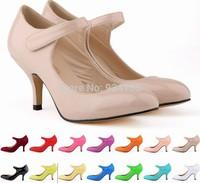 Classic fine with 6 cm light mouth female shoes blasting models paint single shoe size 42