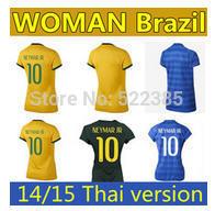 Top Thai Quality Women Home away Soccer Jersey Lady Football Jersey Female Football Uniform Kit Free Shipping Free customs(China (Mainland))