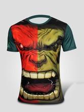 man spring 2015 men s clothing Short sleeve T shirt stripe color les T shirt male