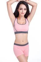 2015 New Spring Push Up Seamless Cotton Sport Bra sets Sexy women Tops and Briefs Sleeping Yoga Running Active Underwear