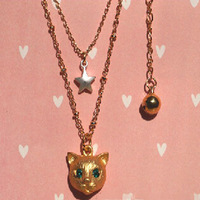 2015 Korean Style Fashion Jewelry Necklace for Women Lovely Little Cat Pendant Necklace NE004