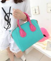 New handbag candy colors hit color handbag shoulder bag Messenger bag