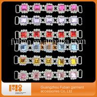 12.5cm sparkly colorful acrylic rhinestone bikini connectors sew on swimwear free shipping