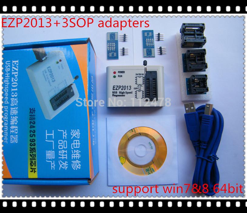product Free Shipping EZP2013 Update from EZP2010 EZP2011 high-speed USB SPI Programmer 24 25 93 EEPROM flash bios vista WIN7+3adapters