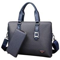 Men's Casual Solid PVC Briefcase Briefcase Crossbody Laptop Shoulder Handbag