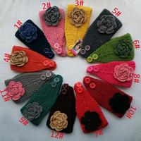 2015 New Fashion Women Crochet Headband Knitting headband hairband Different 3D Flower Winter Ear Warmer Headwrap Free shipping