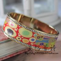 [5 ] FREY special discount enamel hope diamond and gold enamel bracelet No.