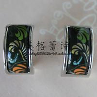 [5 ] FREY special discount Sphinx Orange Series Silver Enamel Earrings