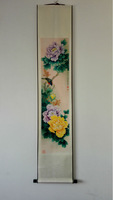 Free Shipping,so wonderful Chinese Traditional Peony Painting used as home decor,with size150*30cm,new arrivals