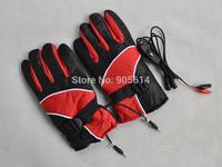 12V Warm Heated Heat Inner Motorcycle Motorbike Outdoor Gloves RED