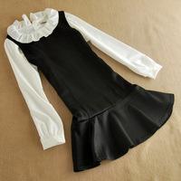 women summer dress new flounced doll collar  two-piece bodycon dress
