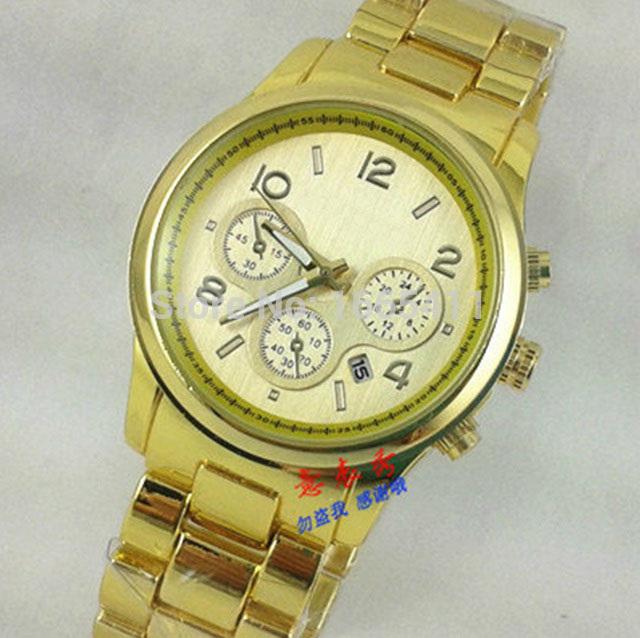 High quality Men Women Watch Stainless steel quartz fashion precise quartz wristwatches Michal kors diamond Quartz
