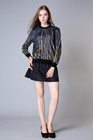 S-L High quality women Cotton skirt High waist Pleated saias femininas 2015 Brand Design short skirts womens
