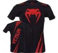 "Venum""Challenger""T-shirt-Red Devil MMA BOXING cotton  T-shirt"