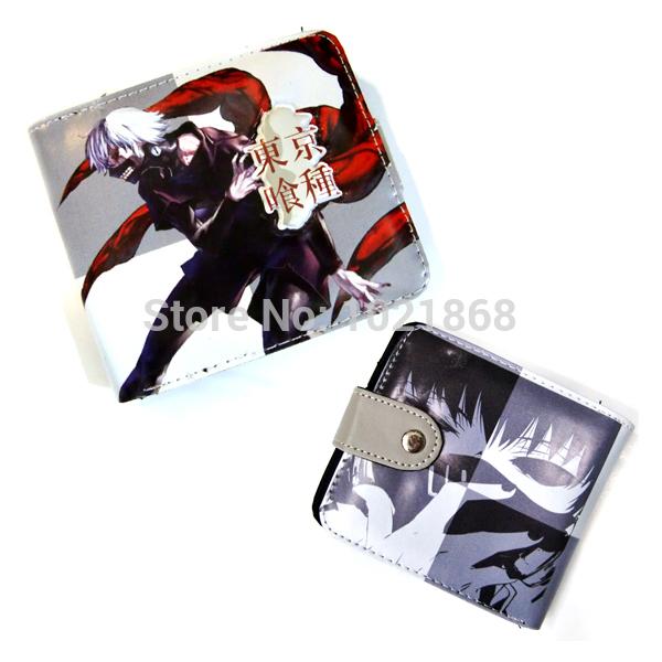Cartoon movie&tv Tokyo Ghoul Kaneki Ken PU wallet money cion purse(China (Mainland))