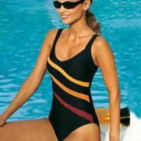 2015 Maillot De Bain Show Thin Plastic Waist Fashion Color Stripe Big New Real Direct Selling Swimwear Free Shipping Bodysuit