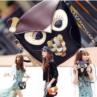 Free Shipping New Women Owl Print Satchel PU Leather Messenger Cross Body Handbag Shoulder Bag