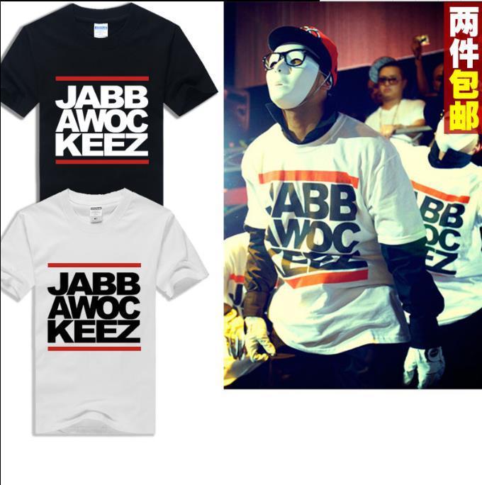 Da américa primeiro T-shirt máscara Jabbawockeez dança dançarinos de hip-hop de manga curta camisa de manga curta maré(China (Mainland))