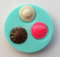 Wholelsale 10 Pcs/lot soft silicone round shapes cake chocolate candy jello decorating mold tools free shipping
