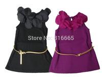 Free shipping 2015 girl dress children cotton flower dress princess girl dress children clothing kids summer girl clothes