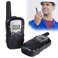 New Arrival 2 Pcs LCD 5km UHF Auto Multi Channels 2-Way Radio Wireless Walkie Talkie T-388 b11 SV006531
