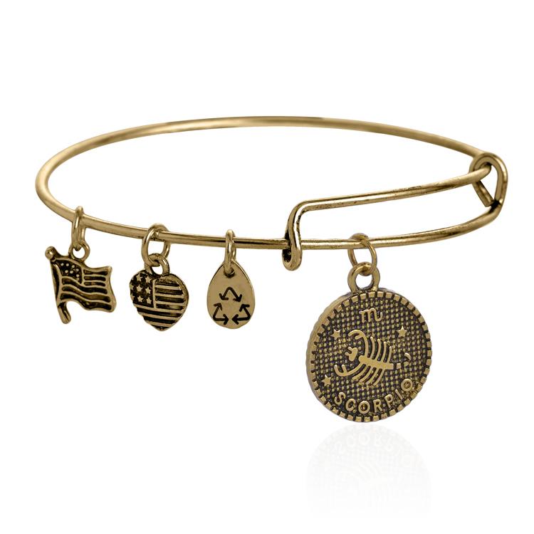 vintage gold metallic bracelets handmade diy scorpio