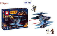 SY310 221pcs Star Wars Vulture Droid Buzz & Pilot Battle Droid Neimoidian Warrior 3D building block set toys for children