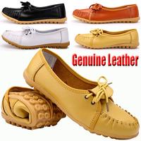 New 2015 Women Basic Flats Shoes Zapatos Mujer Genuine Leather Platform Shose Maternity Sandal Sapatos Femininos Casual Shoe