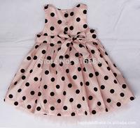 2015 girl dress children MC dot lace dress pink blue dress princess girl dress children clothing kids summer girl clothes bow