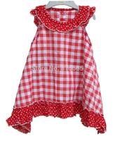 2015 girl dress children MC red plaid  dress pink blue dress princess girl dress children clothing kids summer girl clothes bow