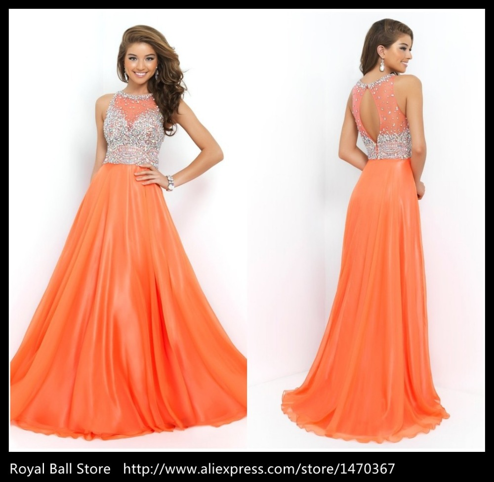 Hunting Orange Prom Dresses