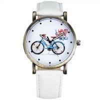 Casual Fashion Quartz Watch Women Stylish Bicycle Pattern Dial Retro Bronze Case Wristwatches relogio femilino relojes Analog 54
