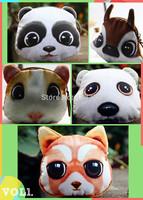 2015 Cartoon key bag creative girl zero wallet cute animals packages gift: panda owl  bear hamster squirrel  polar bears bag
