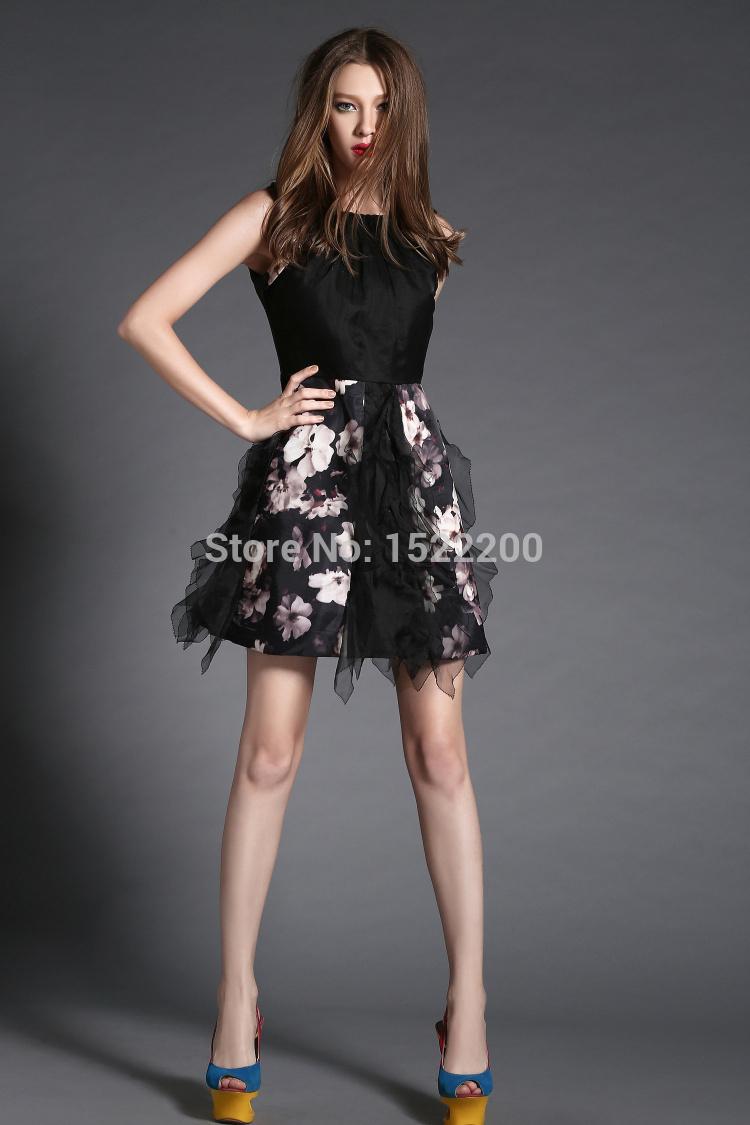 2015 Hot Sale Lace Black Spring Summer Sexy Tank Beautiful Lady Dress(China (Mainland))
