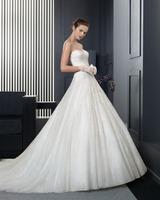 New listing ball gown long train chapel train wedding dress 2015 bridal gowns custom-made