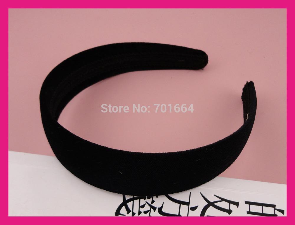 """10PCS 30mm 1.15"""" Black Velvet Fabric Covered plain plastic hair headbands,BARGAIN for BULK(China (Mainland))"""