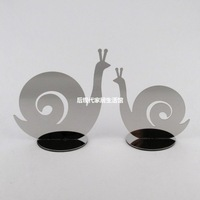 Home decorations ornaments crafts creative fashion stainless steel furnishings snail ornaments decorative size s