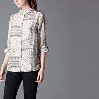 New Design Spring Fashion Ladies Blouse Joker Casual Tops Long Sleeve Round Neck Shirt Leisure Camisa MM8004
