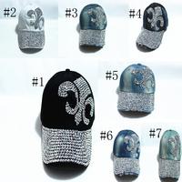 CAP Retail & Wholesale! Fashion Adjustable Baseball cap Diamond Jean Basecall Denim Caps Snapback Baseball Hat Cap for women