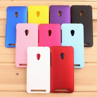For Zenfone 4.5 Cover,Matte Hard Plastic Back Covers Cell Phones Case For Asus Zenfone4.5 A450CG Smartphone Case + Film + Stylus