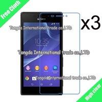 High Clear screen protector For Sony Xperia M2 Aqua D2403 D2406,3pcs/lot